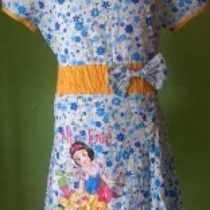 Dress Anak Branded Modis Disney Bunga Kecil Biru