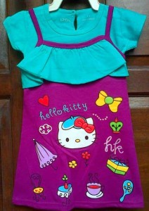 jual dress anak ettoi hello kitty