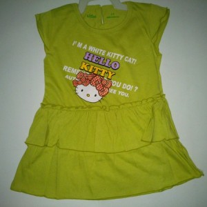 Dress Anak Ettoi Hello Kitty White Kitty