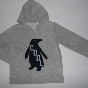 Sweater Anak Carters Cool Penguin Abu-Abu