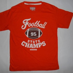 Baju Anak Oshkosh Football State Champs Orange