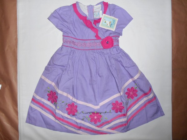 Dress Anak Aliza Bunga Garis Baju Anak Branded