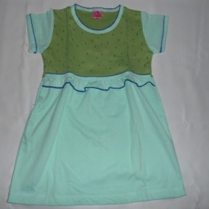 Dress Anak Candle Garis Hijau