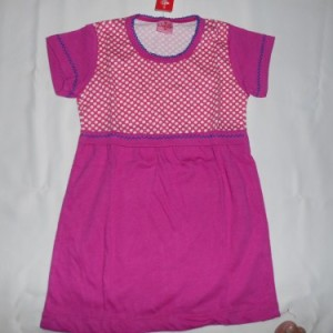 Dress Anak Candle Polkadot Pink