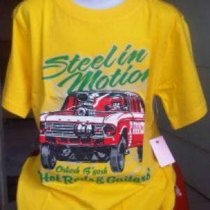Baju Kaos Anak Oshkosh Mobil Steel In Motion Kuning