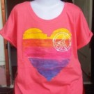 Baju Anak Branded Old Navy Heart Peace Orange