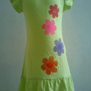 Grosir Dress Anak Branded Oshkosh Motif Bunga Hijau