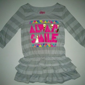 Dress Anak Circo Always Smile Abu-Abu