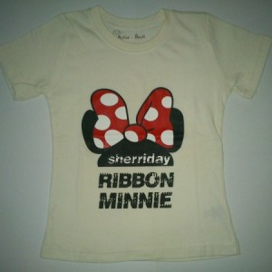 Kaos Active Basic Karakter Minnie Putih