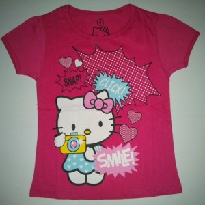 Baju Anak Perempuan Hello Kitty Smile Pink