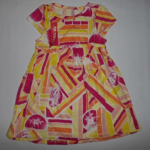 Dress Anak Mumphis Motif Orange