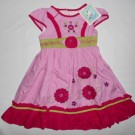 Dress Anak Aliza Bunga Pink Merah