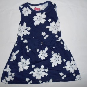 Dress Anak Circo Bunga Biru Dongker