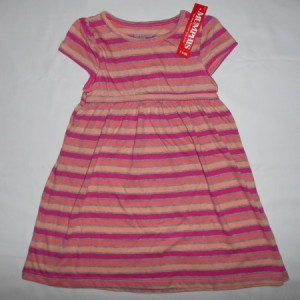 Dress Anak Mumphis Belang Orange