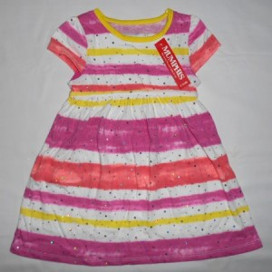 Dress Anak Mumphis Belang Pink