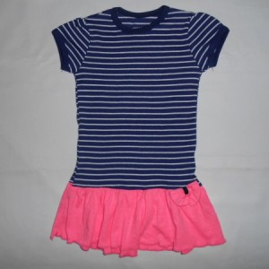 Dress Anak Circo Belang Biru Pink