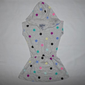 Dress Kupluk Oshkosh Polkadot Abu-Abu