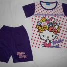 Setelan Anak Disney Hello Kitty Putih Ungu