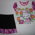 Setelan Anak Headquarter Hello Kitty Putih Pink Motif