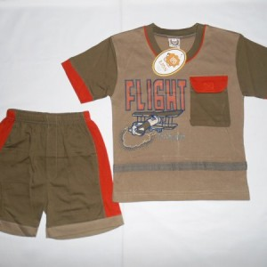 Setelan Anak Lion Flight Coklat Orange