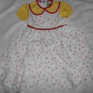 Dress Anak Olen Bunga Garis Kuning