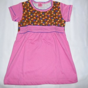 Dress Anak Candle Bunga Pink