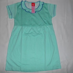 Dress Anak Candle Polkadot Hijau