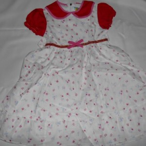 Dress Anak Olen Bunga Pita Merah